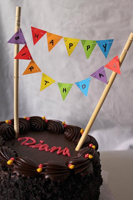 Paper Birthday Cake Box | 640x427