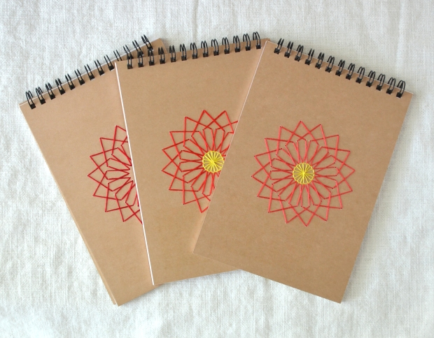 Flower-Sketchbook-Embroidered-Cover-Red-Coral-Poinsetta-01