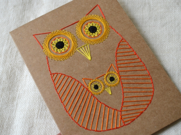 mother-and-baby-owl-geometric-embroidered-card-orange-yellow-03