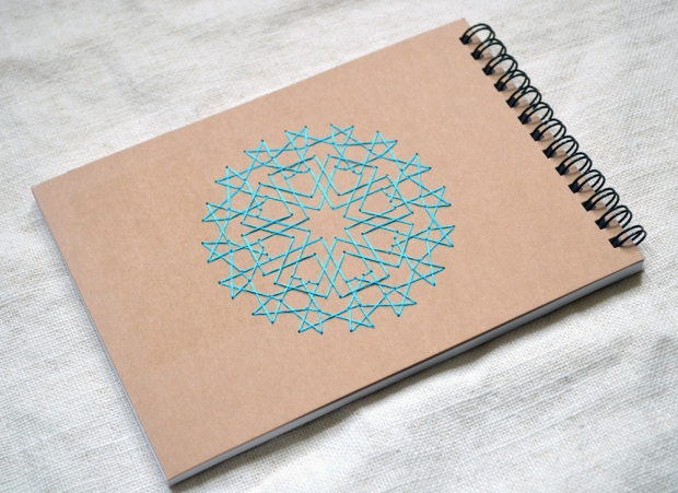 embroidered-notebook-islamic-stars-geometric-blue-sketchbook-04