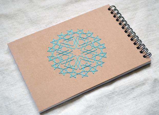 embroidered-notebook-islamic-stars-geometric-blue-sketchbook-04