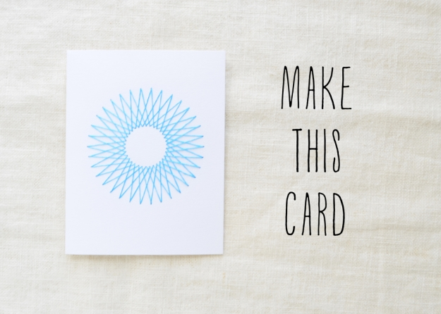 Embroidered Card DIY