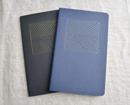 Notebooks with Metallic Geometric Design
