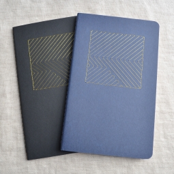 Notebooks with Metallic Geometric Design